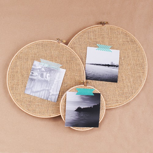 DIY Embroidery Hoop Frame For Photo Prints