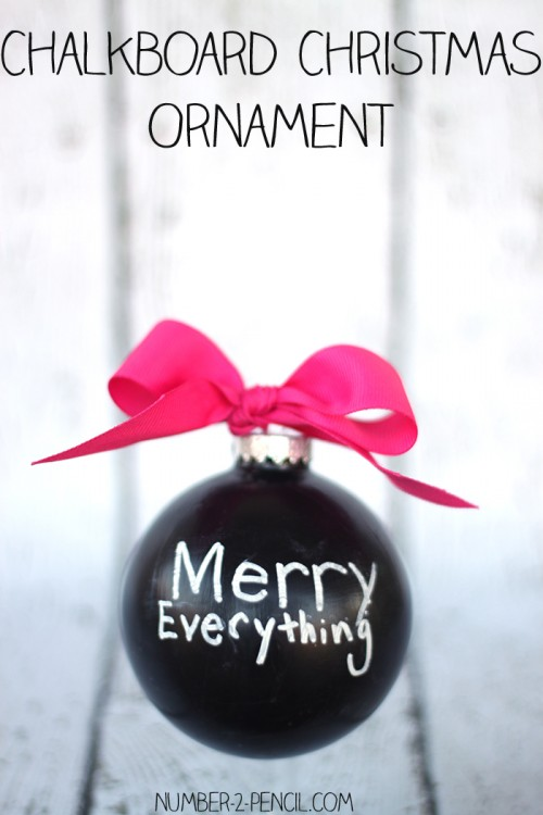 chalkboard Christmas ornament