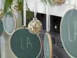 green chalkboard Christmas mantel decorations