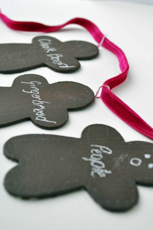 chalkboard gingerbread people garland (via curlybirds)