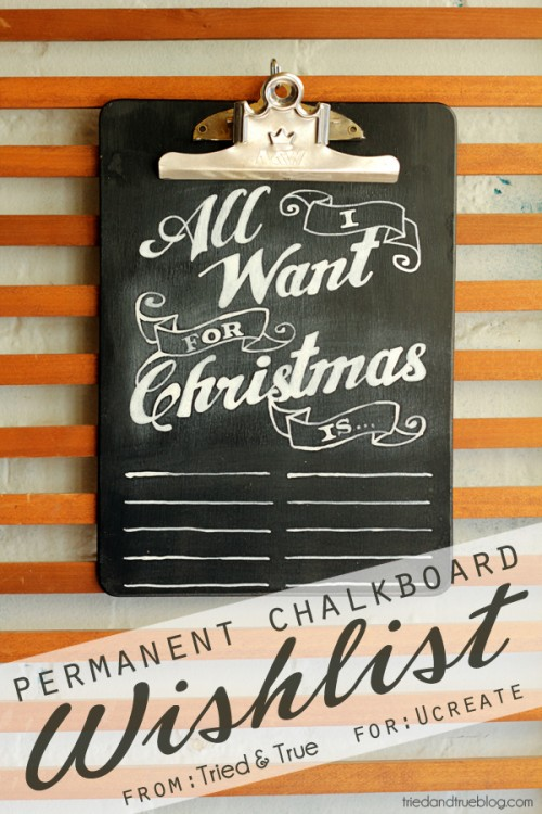 permanent chalkboard wishlist (via gerberadesigns)