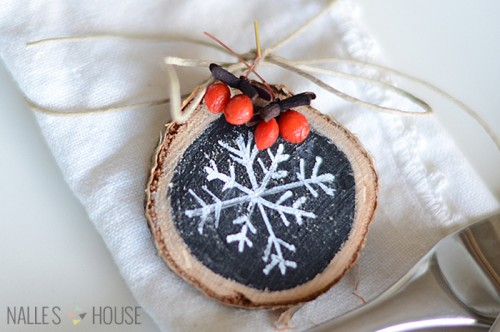 multifunctional Christmas chalkboard slice (via nalleshouse)