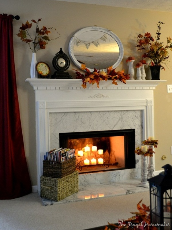 Decorating Mantles Exciting Fall Mantel Decor Ideas Shelterness