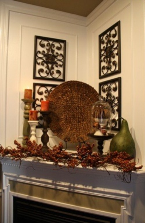 Decorating Ideas For Rentals: 87 Exciting Fall Mantel Décor Ideas