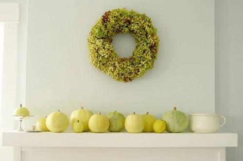 Even though moss wreaths are more popular for spring decorating you can use them in autumn too.