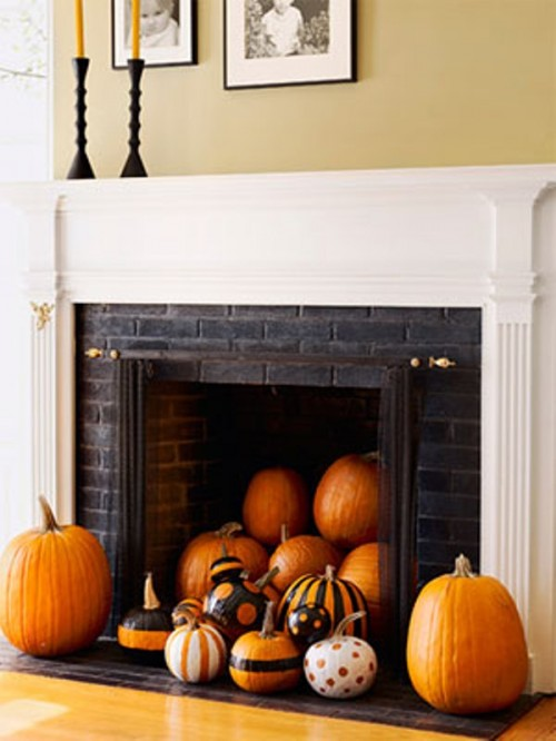 Combine a Halloween- and fall-themed decor for a more universal look.