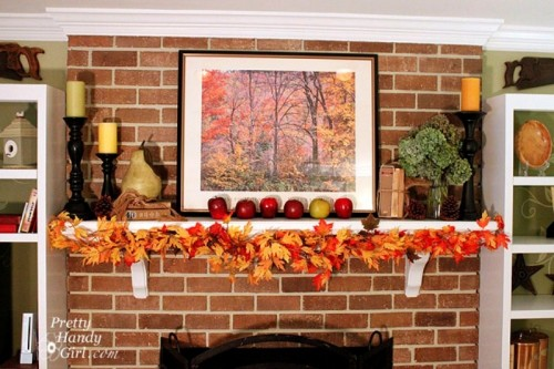 There are plenty of things you can make from faux leaves. For example, a gorgeous garland.