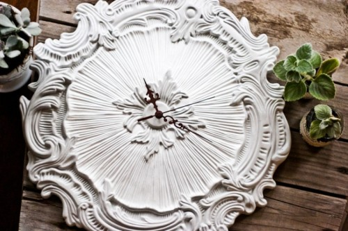 Exquisite DIY Ceiling Medallion Clock