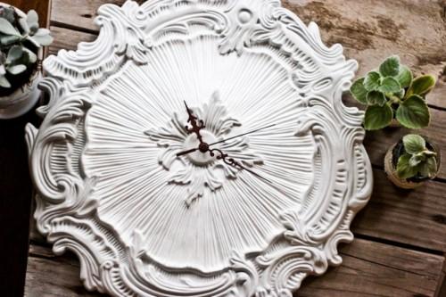 Exquisite DIY Ceiling Medallion Clock