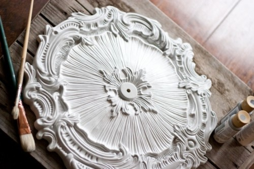 Exquisite Diy Ceiling Medallion Clock Shelterness