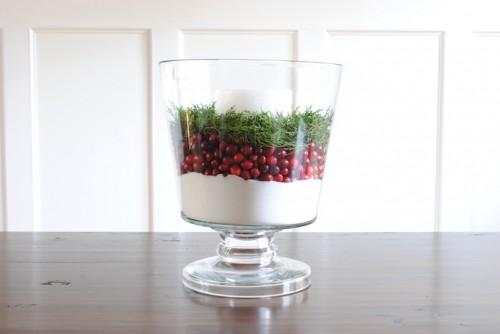 cranberry centerpiece (via shelterness)