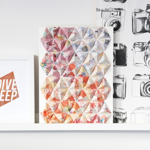 Eye-Catching DIY 3D Origami Wall Art