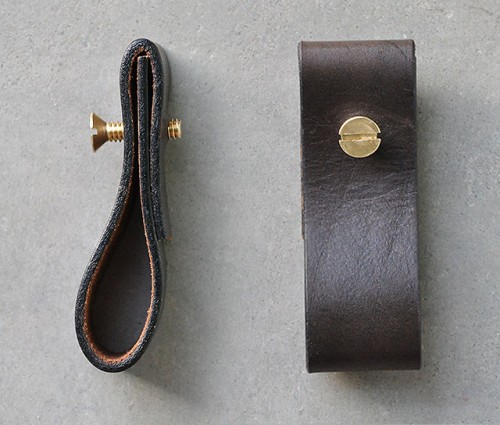 leather furniture pulls (via shelterness)