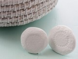 doily stamped knobs