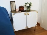 stylish white bedside table makeover