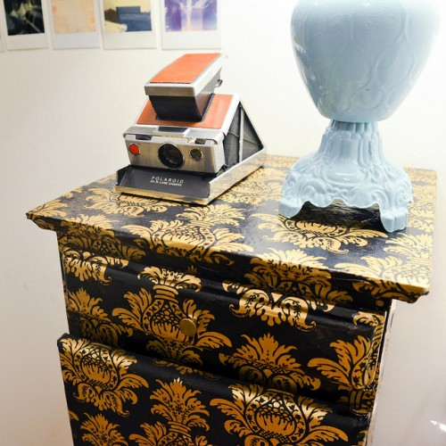 decoupage nightstand (via starsforstreetlights)