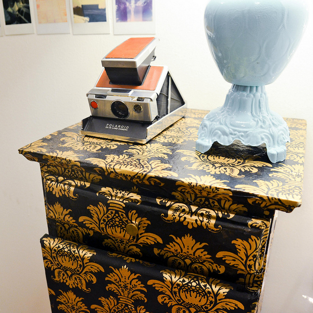 decoupage nightstand