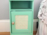 glam-inspired mint nightstand