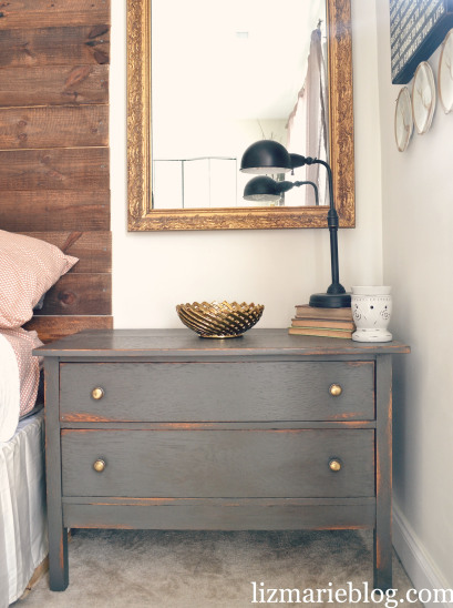 urban bronze nightstand makeover (via lizmarieblog)
