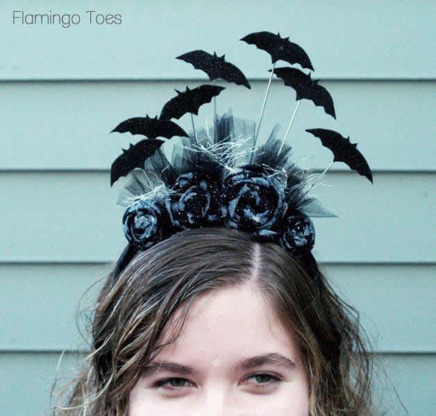 batty Halloween headband