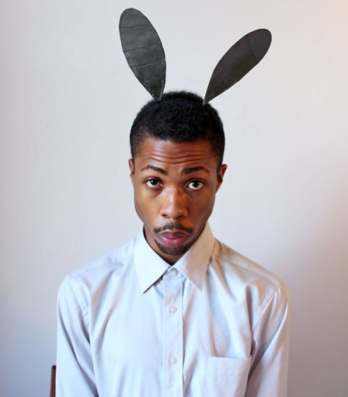 Halloween bunny ears headband for guys (via davidleonmorgan)