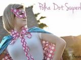 polka dot superhero mask