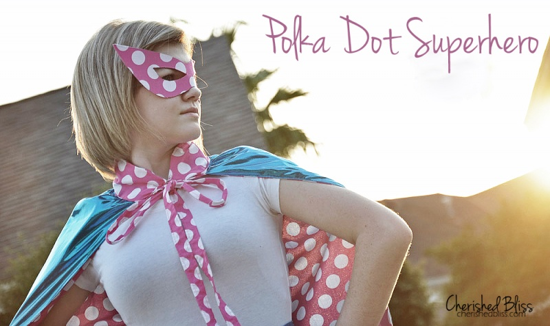 polka dot superhero mask