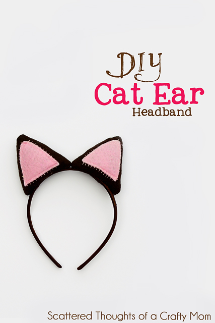 black and pink cat ear headband