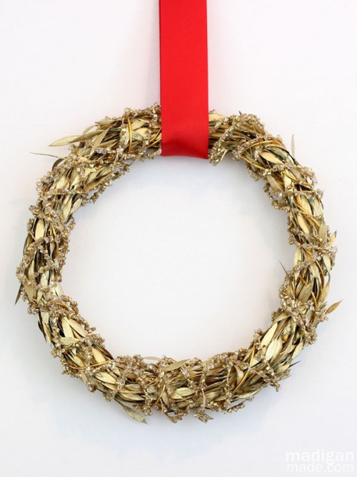 golden garland wreath