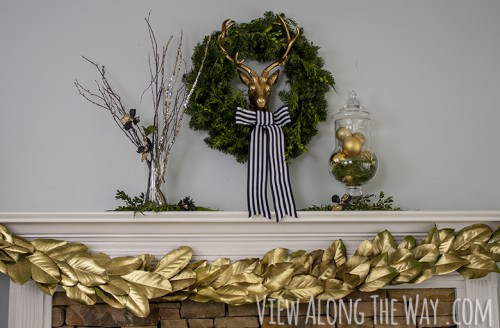 gold magnolia garland (via viewalongtheway)