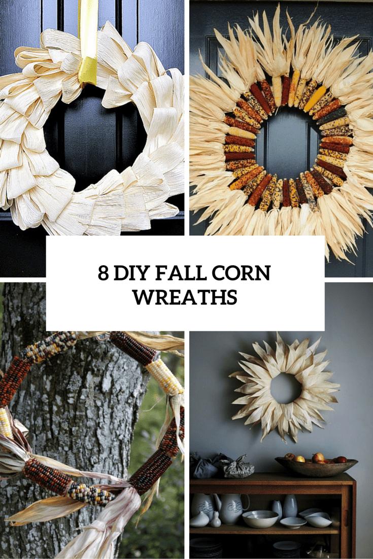 fall corn wreaths cover