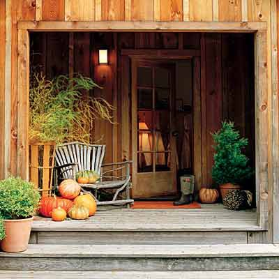 Picture of fall front porch decorating ideas Beautiful fall front porches