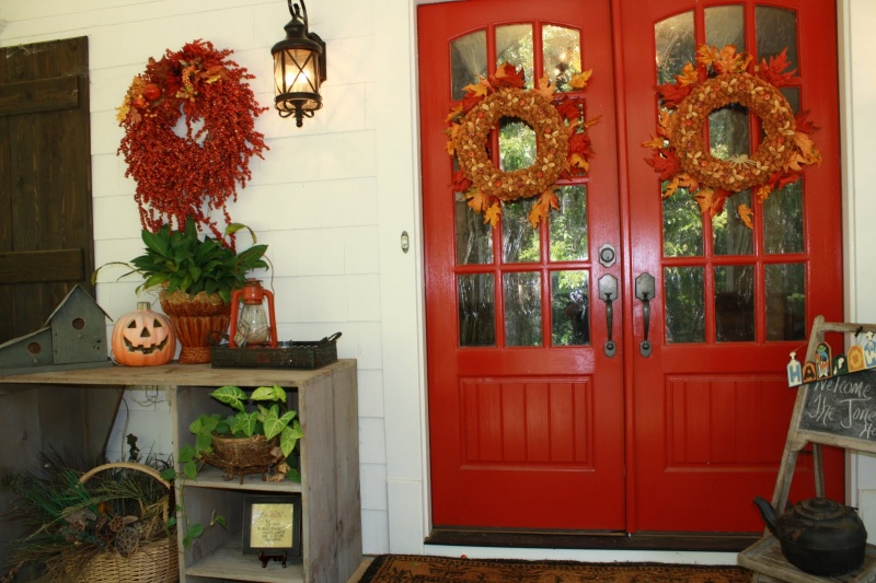Picture Fall Front Porch Decorating Ideas