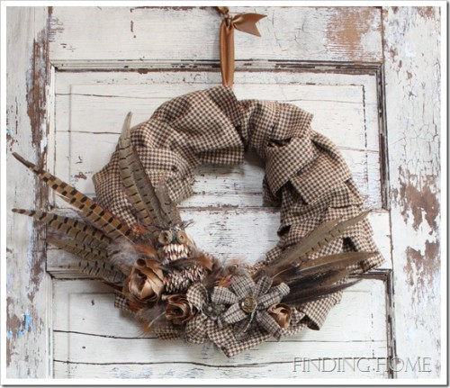 DIY Burlap Wreaths Could Always Add A Rustic Touch To Your Front Door.