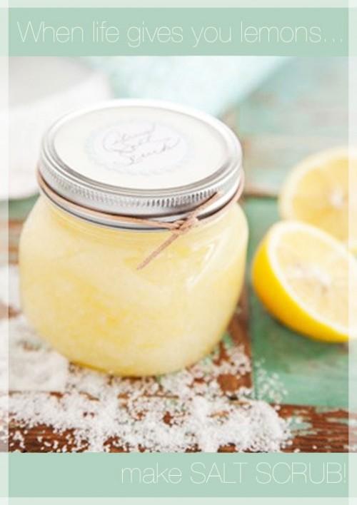 salt lemon scrub (via thebeautydepartment)