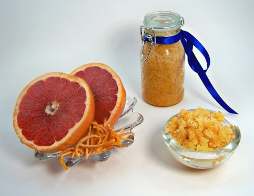 grapefruit sugar scrub (via rumkihn)