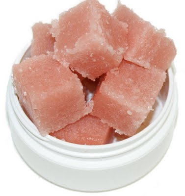 shea butter cubes scrub (via soapdelinews)
