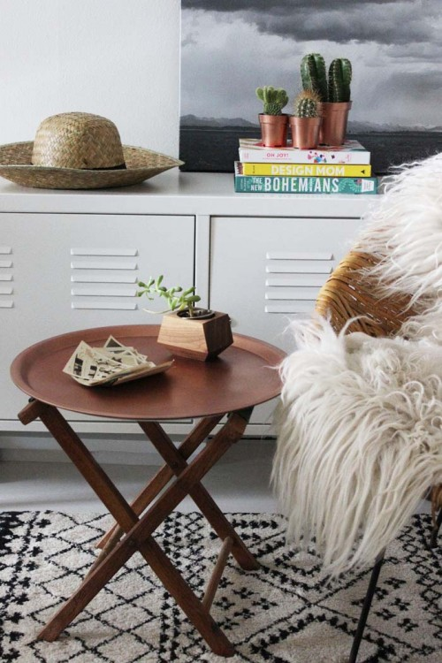 Fast DIY IKEA Hack: Copper End Table