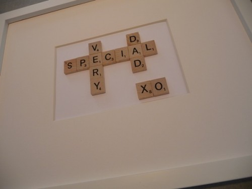 DIY Father's Day Gift Using Scrabble Letters