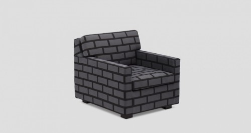 Faux Brick Chairs