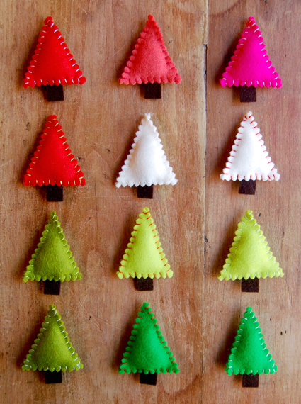 DIY Felt Christmas Tree Pins