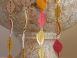bright felt leaf garlands are ideal for fall and Thanksgiving are great for both indoor and outdoor decor and can be made very fast
