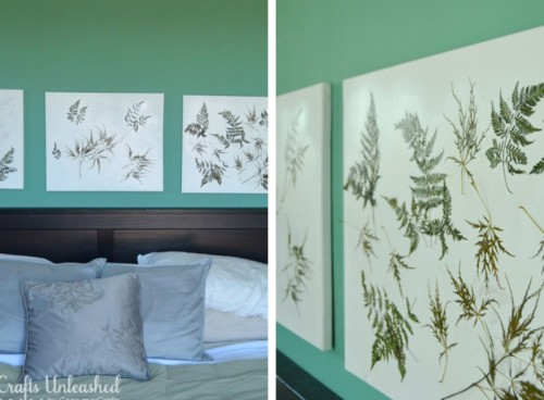 DIY Fern Canvas Wall Art To Bring Some Nature Inside - Shelterness