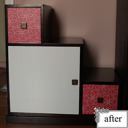 Before & After – Step Cabinet