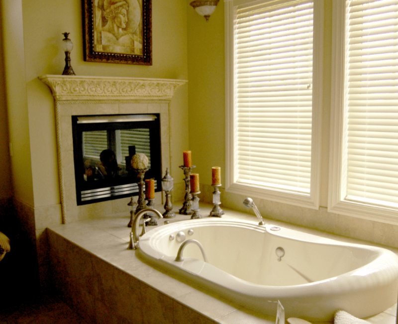 Picture Of Fireplace In A Bathroom