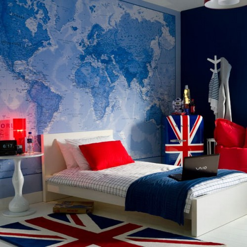 Interior design ideas bedroom colour revivals red - Blue and red boys bedroom ...