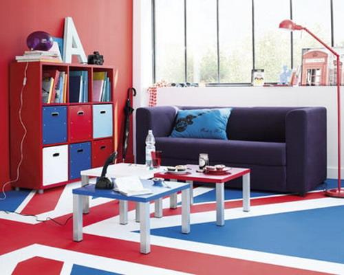 Flag Themed Boys Bedrooms