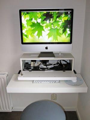 Floating Diy Computer Desk For An Imac Shelterness