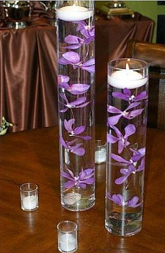 Floating Flowers And Candles Submerged Lilies Looks Quite Awesome