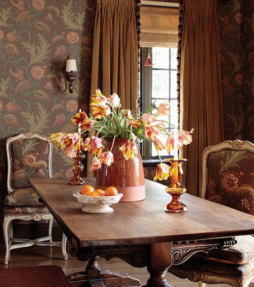 heavy drapes works really well in french country decor